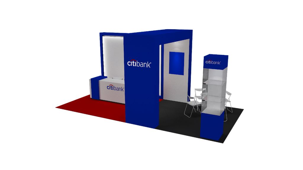 event booth design that blend in company image- Creative Digest International