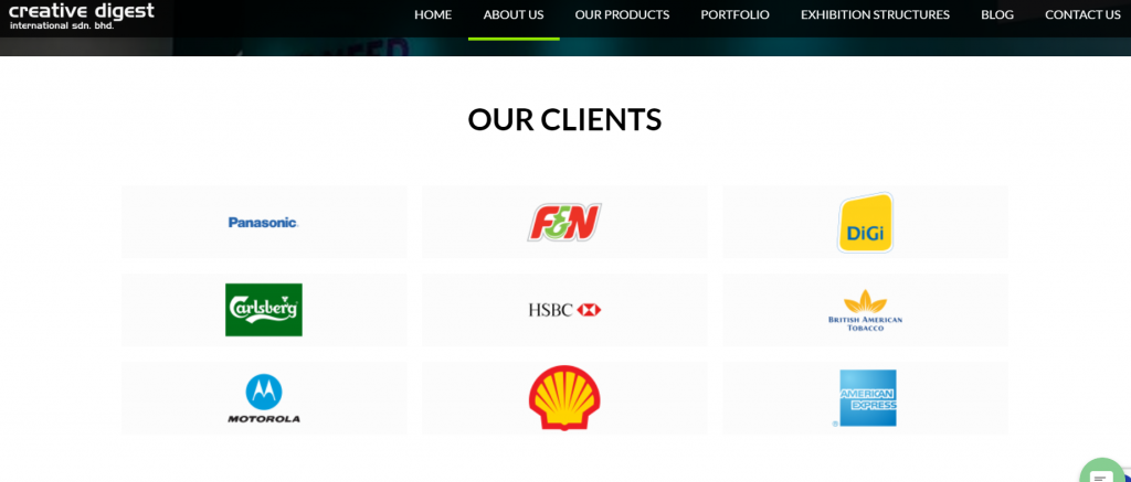 renowned multinational companies as our clients- Creative Digest International
